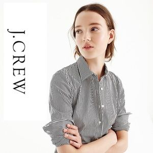 J. Crew Stretch Perfect Classic Stripe Shirt Med